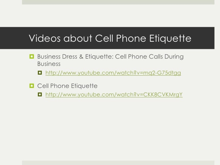 What is Cell Phone Etiquette?