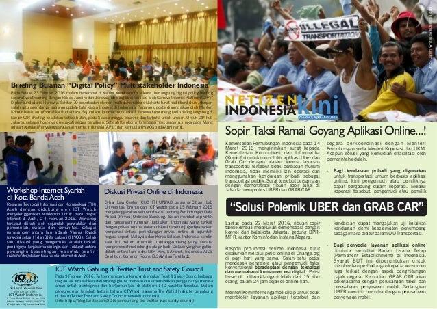 Sopir Taksi Ramai Goyang Aplikasi Online...! Kementerian Perhubungan Indonesia pada 14 Maret 2016 mengirimkan surat kepada...