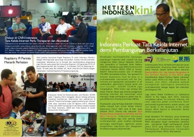 Disinformasi di Internet Indonesia Perkuat Tata Kelola Internet demi Pembangunan Berkelanjutan Pendekatan multistakeholder...