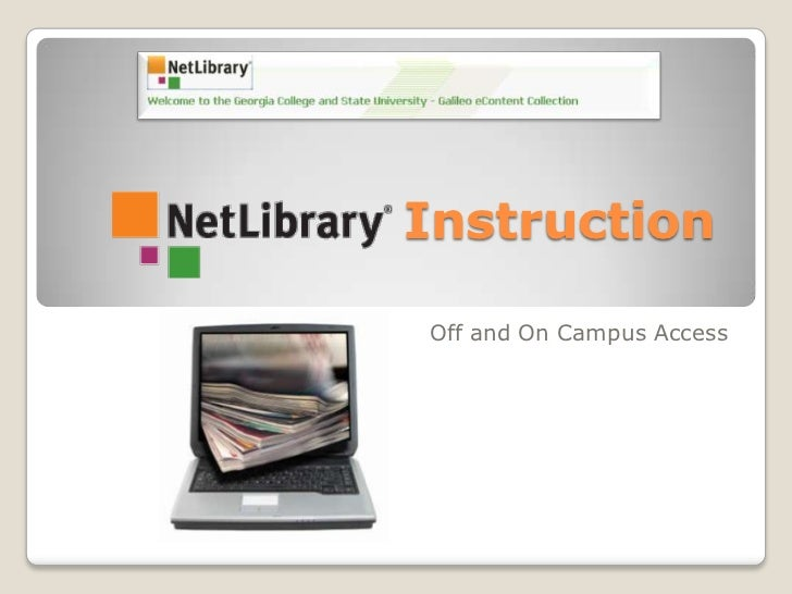 Instruction<br />Off and On Campus Access<br />