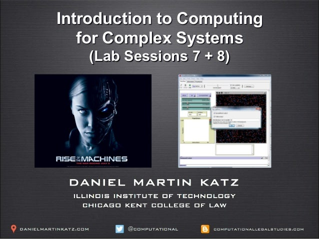 Introduction to Computing for Complex Systems (Lab Sessions 7 + 8)