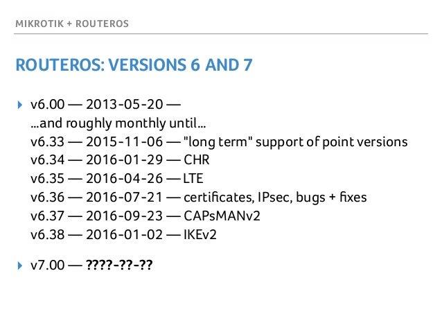 MikroTik & RouterOS