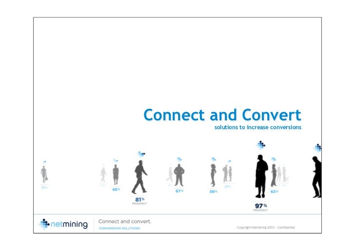 Connect and Convert        solutions to increase conversions                Copyright Netmining 2010 - Confidential