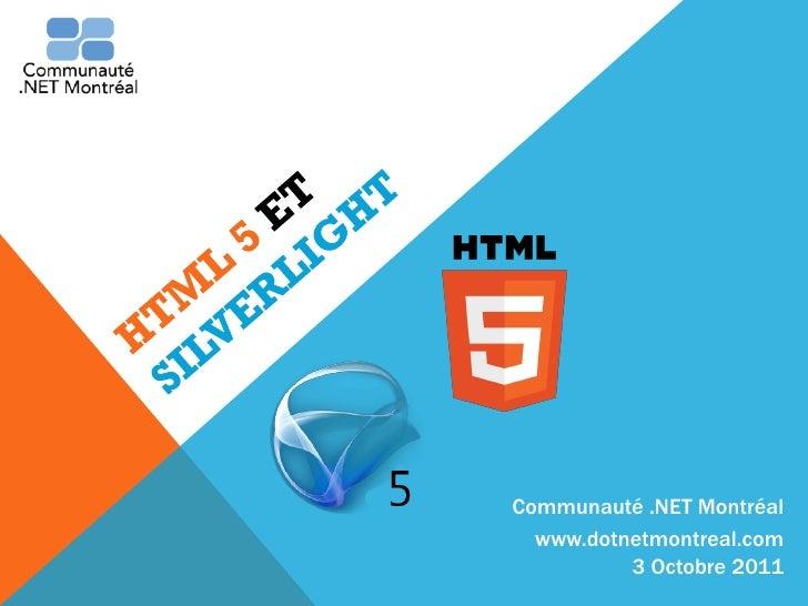 Communauté .NET Montréal  www.dotnetmontreal.com          3 Octobre 2011
