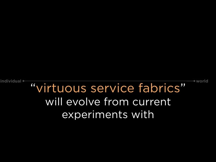 """individual                                world               """"virtuous service fabrics""""                will evolve from c..."""