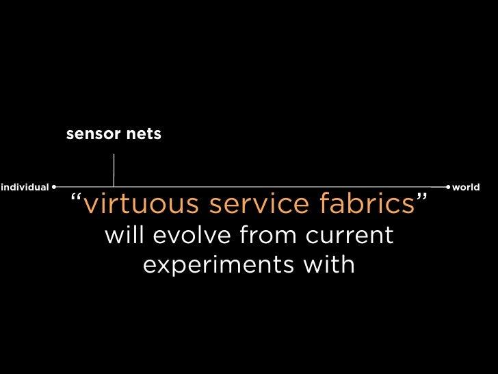 "sensor nets   individual                                  world               ""virtuous service fabrics""                  ..."