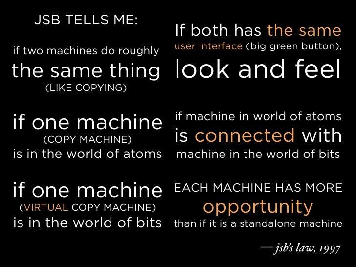 JSB TELLS ME:                              If both has the same                              user interface (big green but...