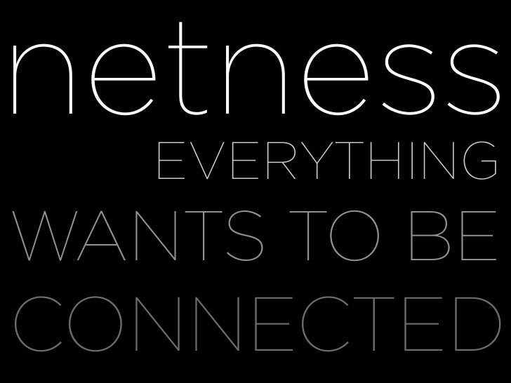 netness WHY EVERYTHING WANTS TO BE CONNECTED
