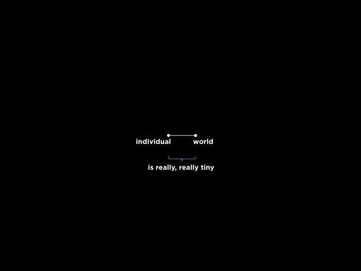 individual       world      is really, really tiny