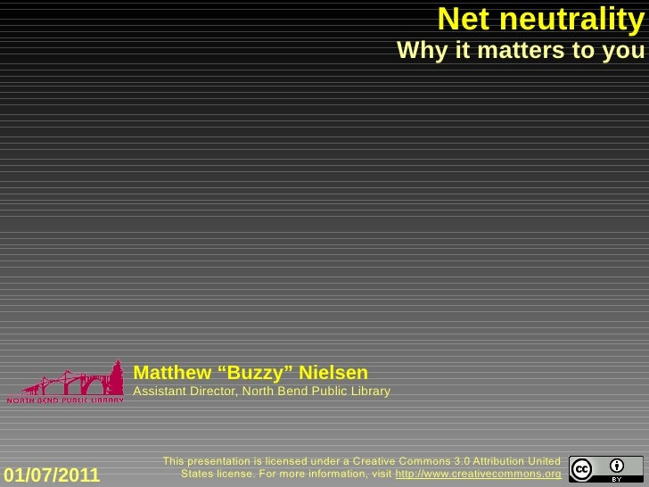 Net neutrality                                                                Why it matters to you                  Matth...