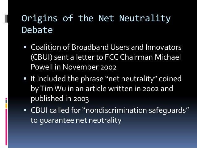 Net neutrality Slide 2