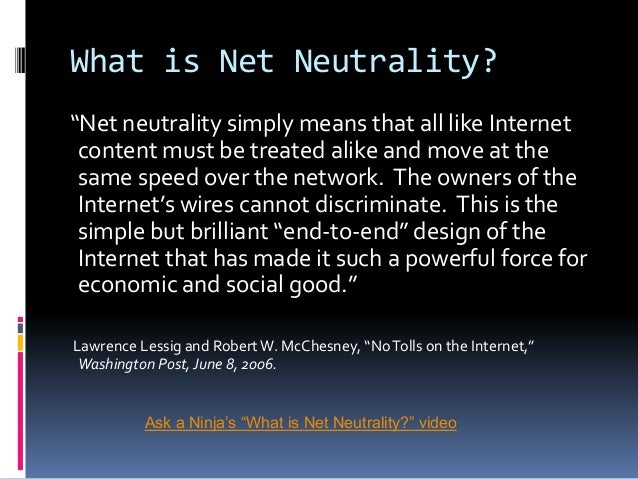 Net neutrality Slide 3