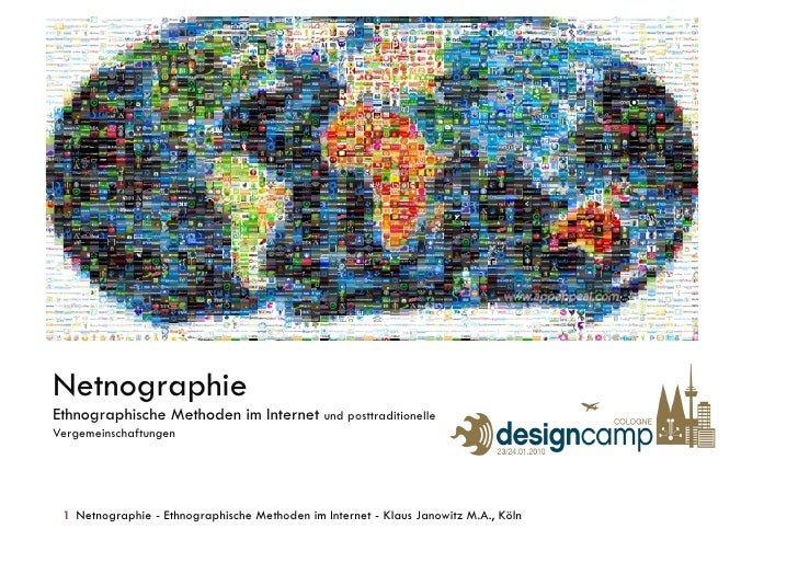 Netnographie Ethnographische Methoden im Internet und posttraditionelle Vergemeinschaftungen      1 Netnographie - Ethnogr...
