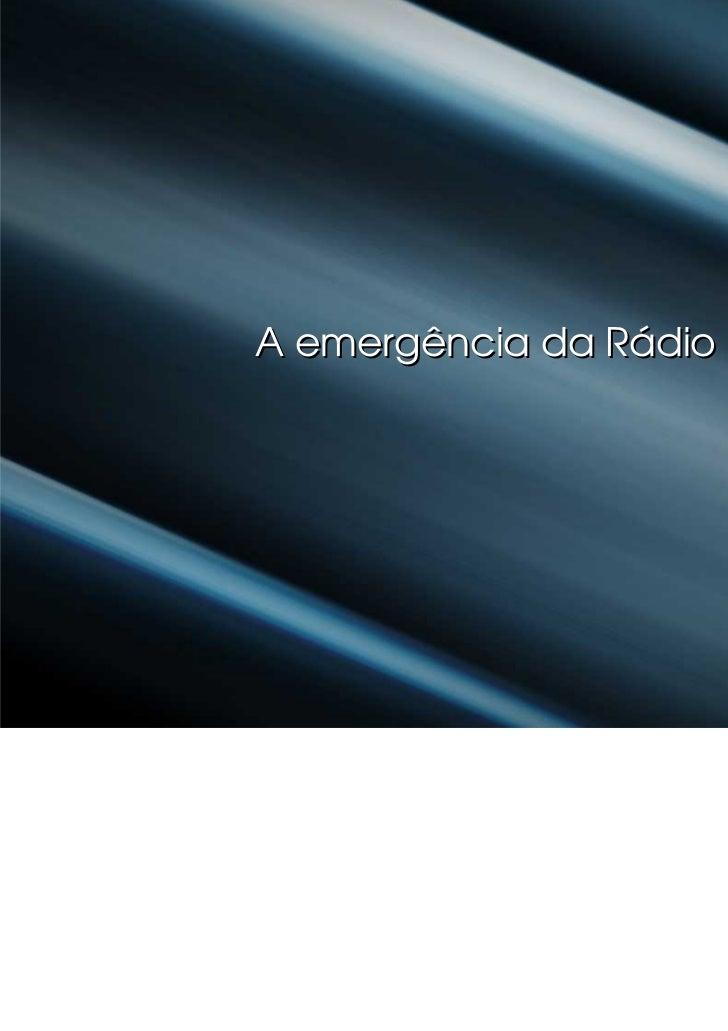 A emergência da Rádio
