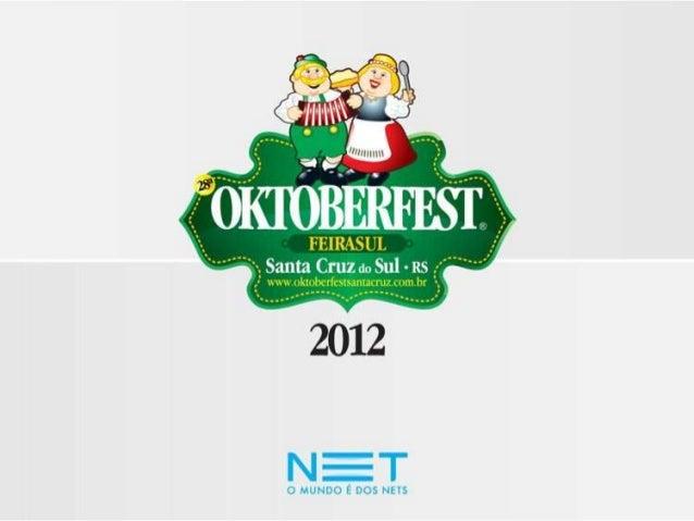 DADOS DO PLANO DE AÇÕES Datas: de 10 a 21/10/2012 Local: Parque da Oktoberfest – Santa Cruz do Sul/RS Horários: Durante a ...