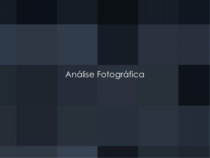 Análise Fotográfica