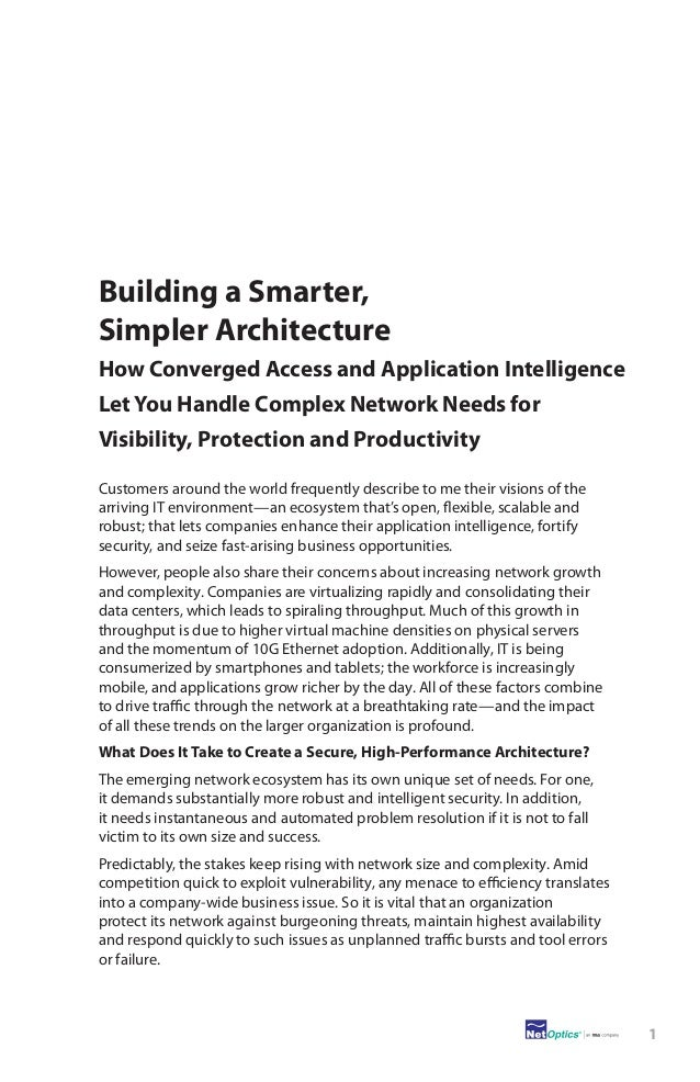 The New Intelligent Network: Building a Smarter, Simpler Architecture Slide 3