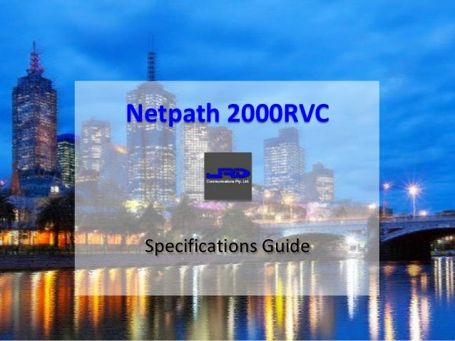 Specifications Guide Netpath 2000RVC