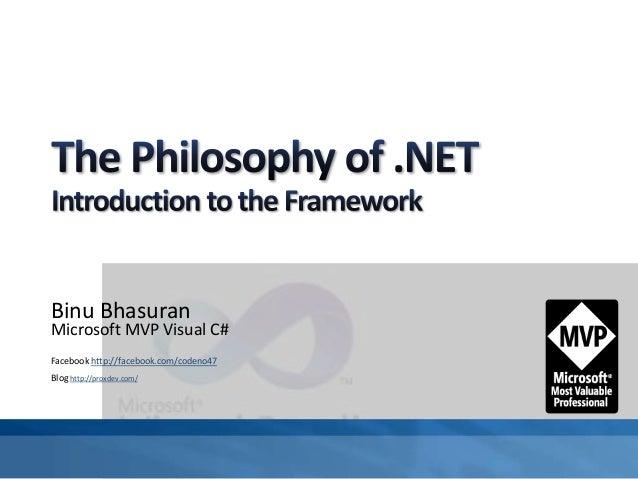 Binu Bhasuran Microsoft MVP Visual C# Facebook http://facebook.com/codeno47 Blog http://proxdev.com/