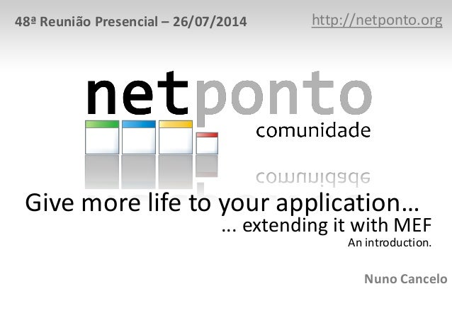 Give more life to your application, extending it with MEF