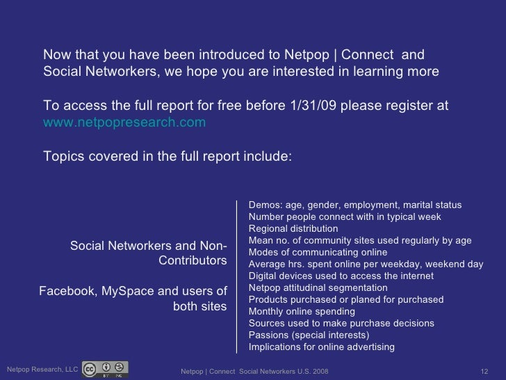 Now that you have been introduced to Netpop | Connect  and Social Networkers, we hope you are interested in learning more ...
