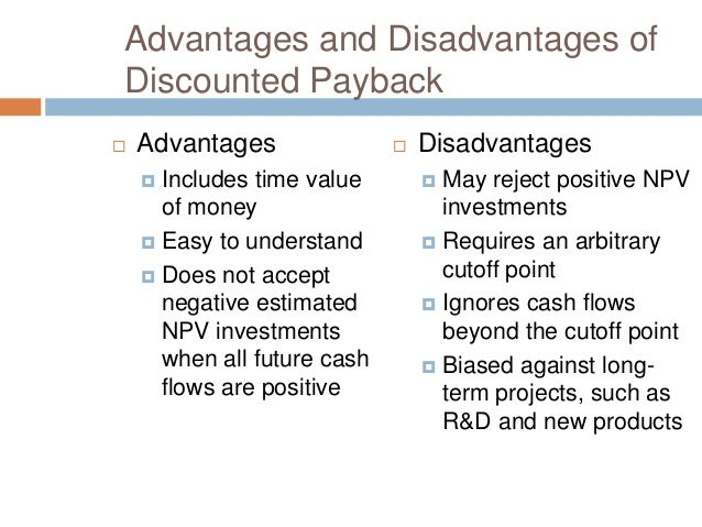 net present value and discount rate Net present value criterion the net present value (npv) criterion is the principal government investment project evaluation criterion at 7% discount rate: sum pvb = $100456 - sum pvc = $95309 = $5147 decision: increase or decrease i a.