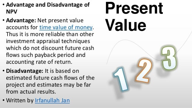 net present value and fiat The net present value is the most commonly used method to decide whether to invest in a project or not the net present value of a project is equal to the sum of the present value of all.