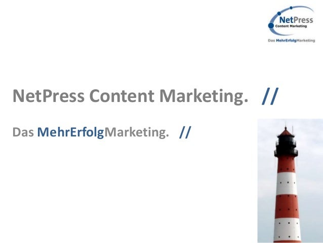 NetPress Content Marketing. //Das MehrErfolgMarketing. //