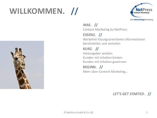 NetPress Content Marketing, Das MehrErfolgMarketing Slide 3