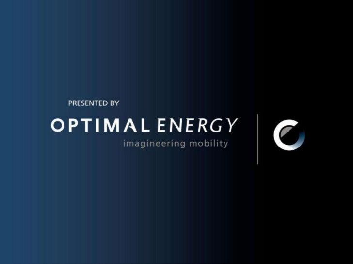 Kobus Meiring, Diana Blake,  September 08<br />1<br />OPTIMAL ENERGY<br />