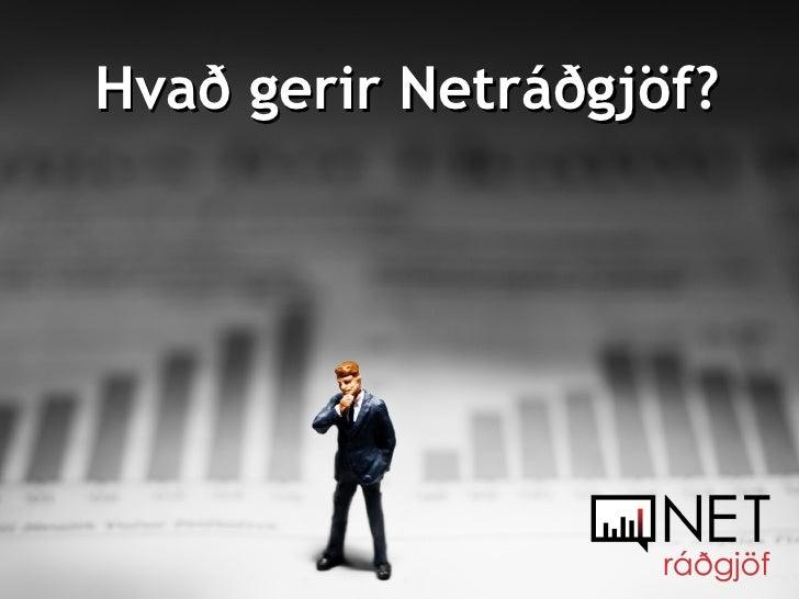 Hvað gerir Netráðgjöf?