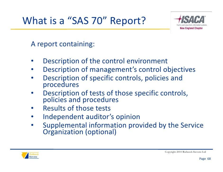 sas 70 report