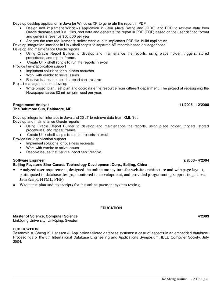 unix developer resume sample resume system administrator