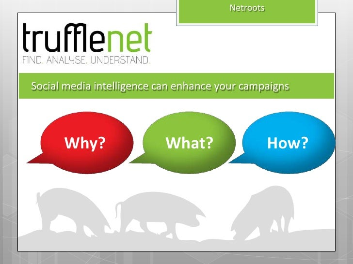 NetrootsSocial media intelligence can enhance your campaigns      Why?                 What?                  How?