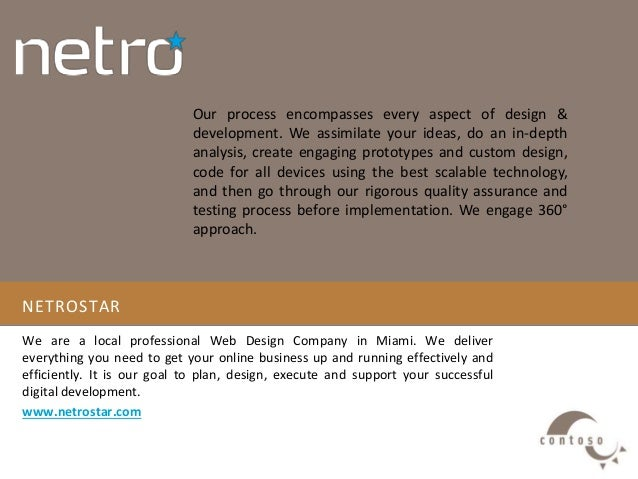 NETROSTAR We are a local professional Web Design Company in Miami. We deliver everything you need to get your online busin...