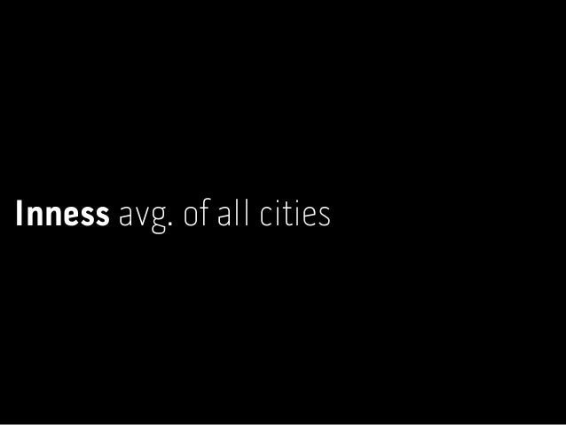 Shortest Fastest Inness pattern of individual cities
