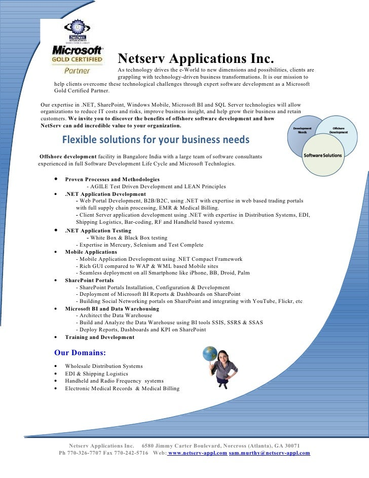 Netserv Applications Inc.                                 As technology drives the e-World to new dimensions and possibili...