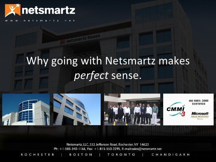 Why going with Netsmartz makes  perfect  sense.