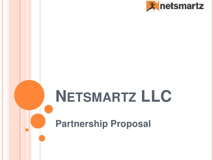 NETSMARTZ LLC Partnership Proposal