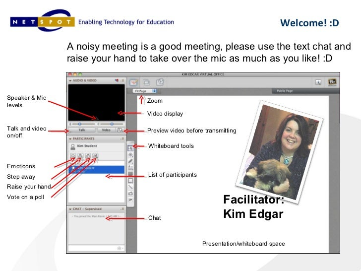 Welcome! :D                  A noisy meeting is a good meeting, please use the text chat and                  raise your h...