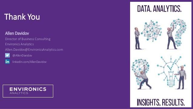 Thank You Allen Davidov Director of Business Consulting Environics Analytics Allen.Davidov@EnvironicsAnalytics.com @AllenD...