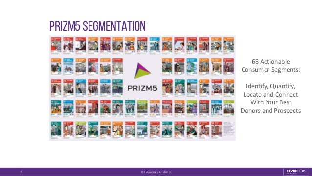 Prizm5 segmentation 7 68 Actionable Consumer Segments: Identify, Quantify, Locate and Connect With Your Best Donors and Pr...