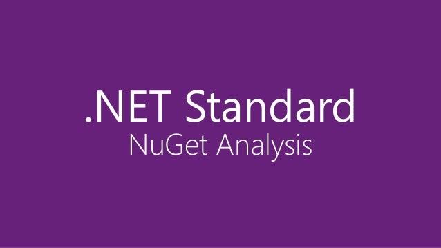 .NET Standard NuGet Analysis