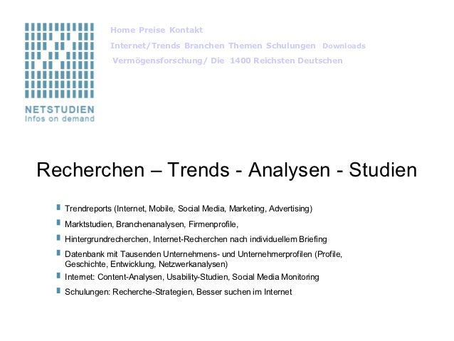 HomePreiseKontakt                              Internet/TrendsBranchenThemenSchulungen Downloads            ...