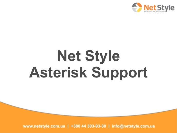 Net StyleAsterisk Support