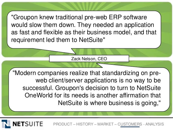 """""""Groupon knew traditional pre-web ERP softwarewould slow them down. They needed an applicationas fast and flexible as thei..."""