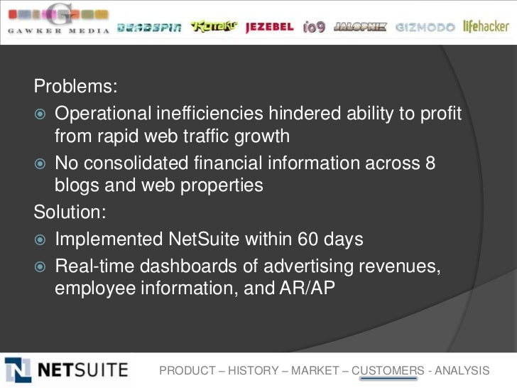Problems: Operational inefficiencies hindered ability to profit  from rapid web traffic growth No consolidated financial...