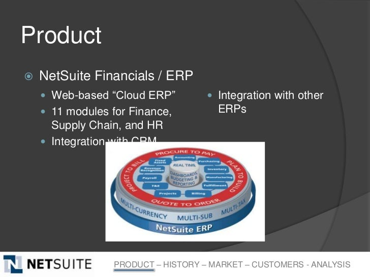 """Product   NetSuite Financials / ERP     Web-based """"Cloud ERP""""          Integration with other     11 modules for Finan..."""