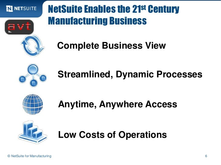 NetSuite Enables the 21st Century                         Manufacturing Business                               Complete Bu...