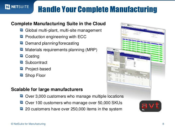 Handle Your Complete ManufacturingComplete Manufacturing Suite in the Cloud           Global multi-plant, multi-site manag...
